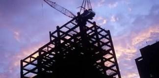 Sunset: under construction / Fuji Velvia 100 (RVP) / ISO200 / 120 / 6x6 / 1-stop push process.