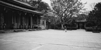 Temple cleaning - Ilford FP4+ shot at ISO100 Black and white negative film in 35mm format