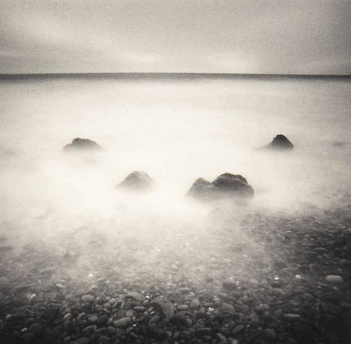 Four rocks - 20mm lens, 180sec exposure, ND10 filter, Ilford FP4.