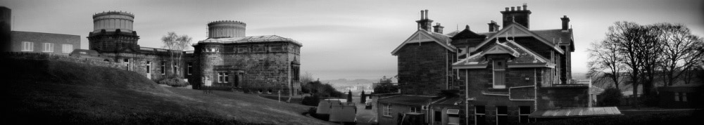 Royal Observatory, Edinburgh -Curved-focal-plane shoebox pinhole camera, Kodak 4421 aerographic duplicating film