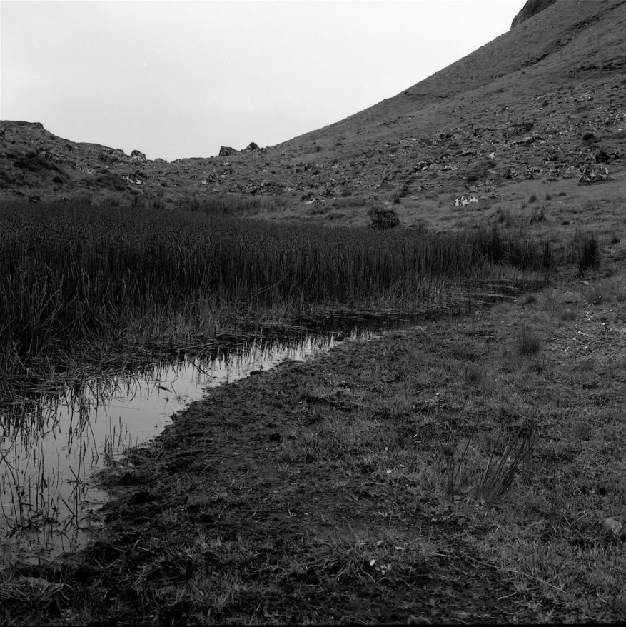 <b>The Quiraing, Isle of Skye</b><br>Bronica SQAi, 80mm, f22 on Ilford Pan F with Yellow Filter