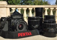 Pentax 6x7 with lenses