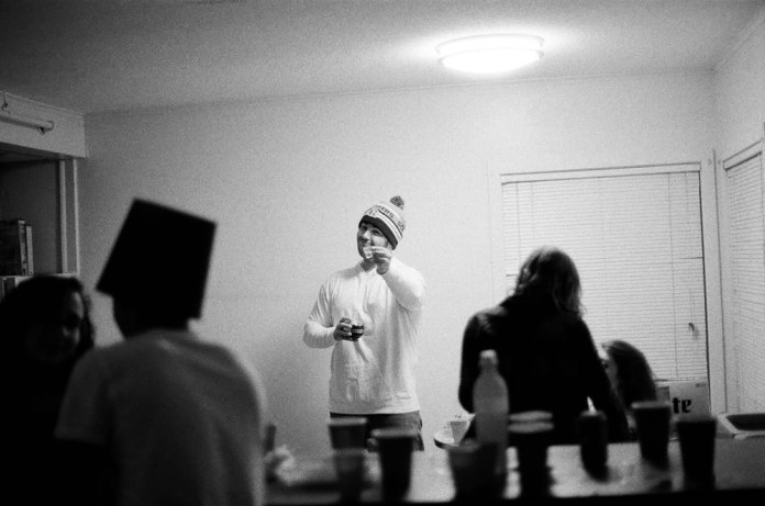 """Cheers"" - Ilford Delta 3200 - Cook Campus - Rutgers New Brunswick, New Brunswick, NJ"