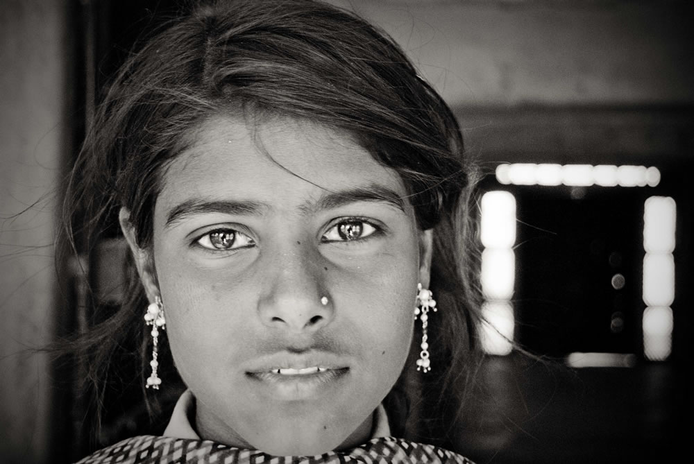 Untouchable girl in Pushkar, India 2009