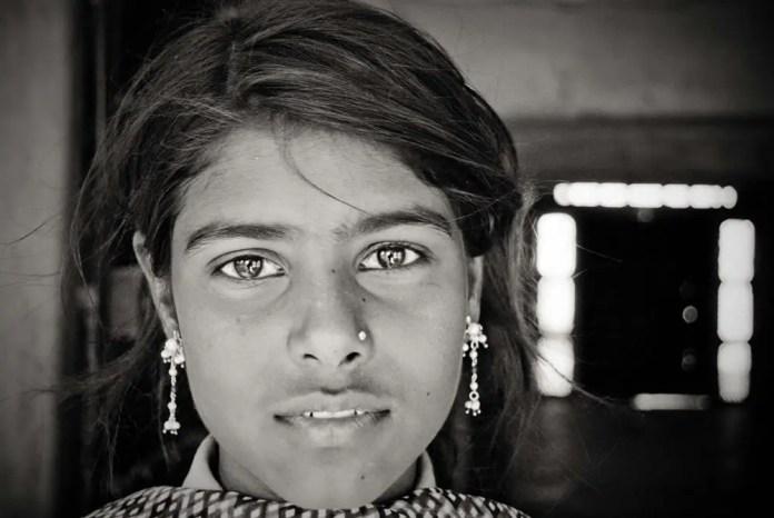 Untouchable girl in Pushkar, India 2009