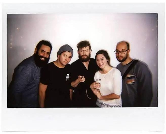 Frank, Devin, Juan, Katherine, Christian @ Lomo'Instant Launch Party