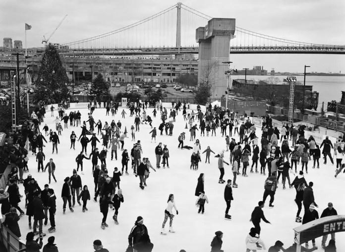 Ice skating, Philadelphia, PA. Fuji GA645, Kodak Tri-X 400.