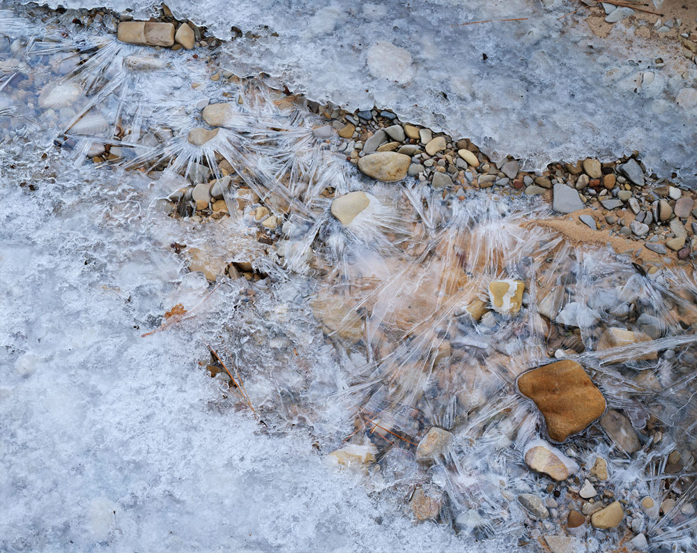 Ice & Stone: Fuji Velvia 50 8x10 | 2.5 seconds @ f/45 | Nikkor 300mm | Ebony RW810