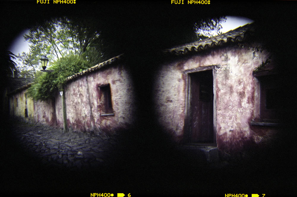 """Colonia diptych"" 2 Holga images shot with Holga wide angle add-on lens, Fuji NPH 400"