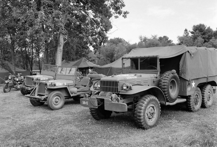 Restored American World War II vehicles, 7/14, HP5 (120) in HC110 Dilution H