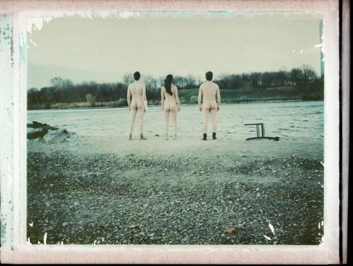 Butt naked - Polaroid Land Camera 100 - Fuji FP100C