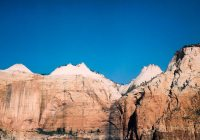 Zion #01 - Kodak Vericolor 160 VPS 6006 shot at EI 100. Color negative film in 120 format shot as 6x12. Graflex Speed Graphic. Kodak Aero Ektar 178/2.5. 6x12 film back.