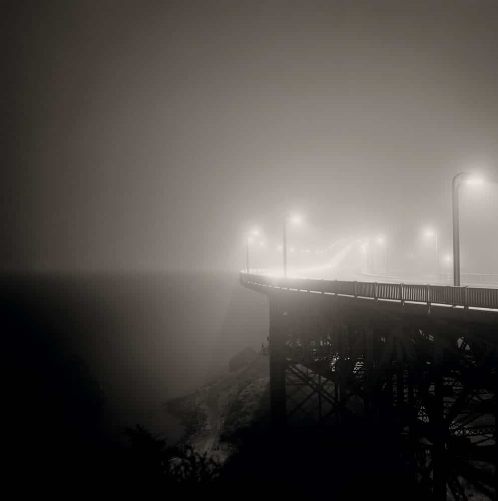 Foggy Bridge - Hasselblad 500c, 80mm, Agfa APX 100 in Rodinal