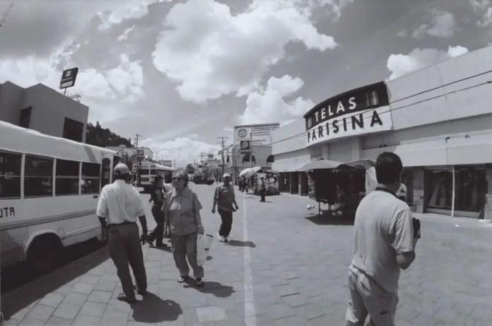 Sonoran Street, Canon AE-1 Program, 15mm 2.8 Fisheye, Kodak BW400CN