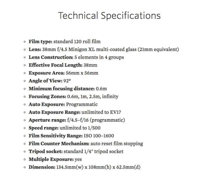 LCA-120 Technical Specifications