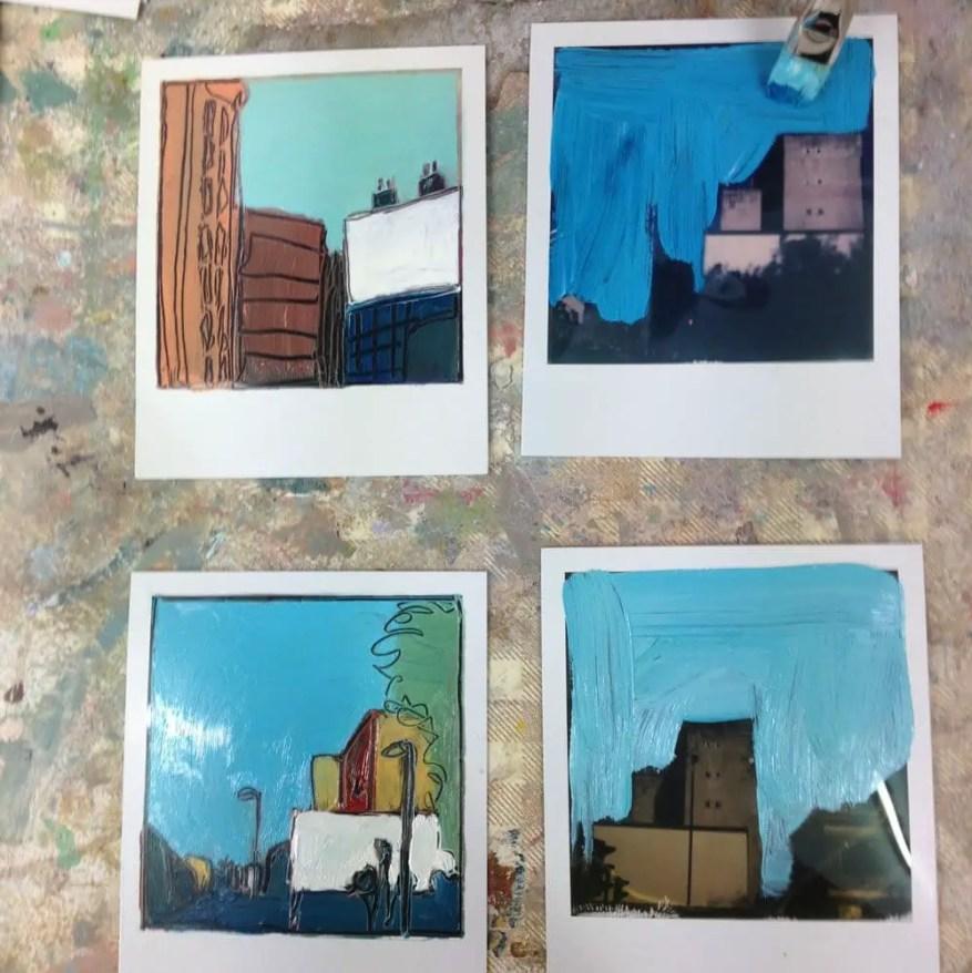 Work in progress - Polaroids during London shoots