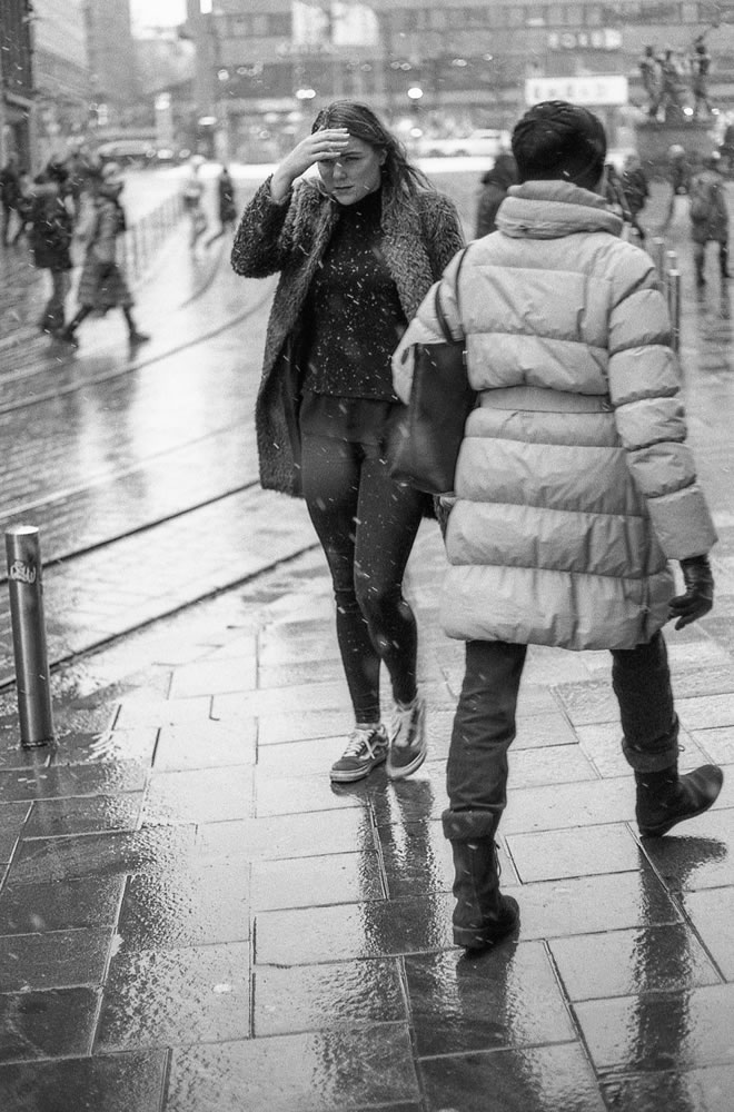 Street Scenes Series #3 - Shot with a Canon EF 50mm f/1.8 STM and Canon EOS-1, with Delta 100 at EI 200