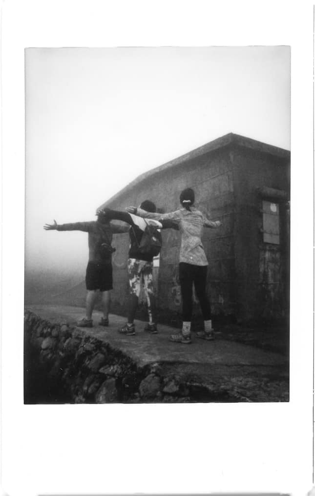 Photographer: Peter Sam Title: Ritual in the fog Location: Sunset peak Camera: Fuji Instax Mini 8