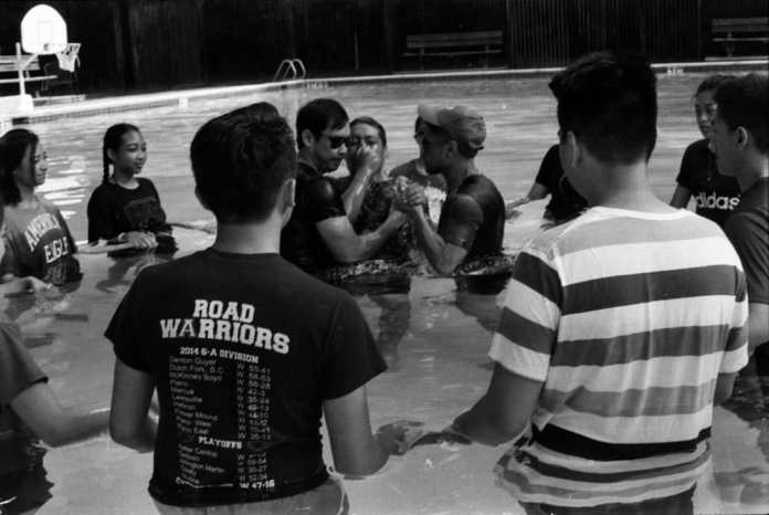The Baptism (Huntsville, Texas) - Canon FTQL - FD 50mm F/1.8, Ilford HP5 Plus