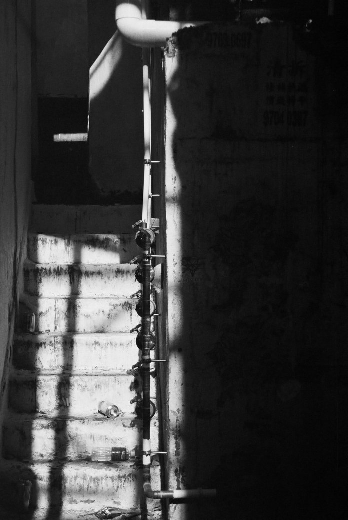Take the stairs - Fuji Neopan 400 shot at EI 400. Black and white negative film in 35mm format.