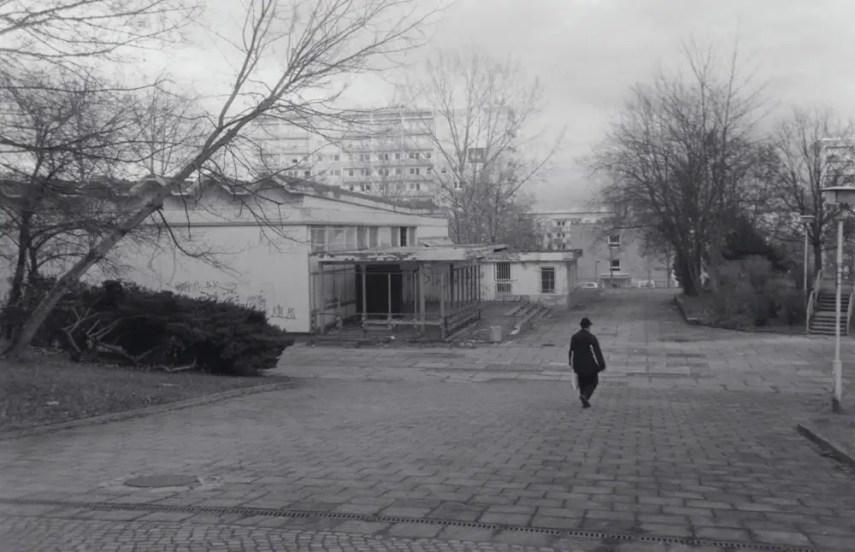 Closed supermarket, by now demolished, Chemnitz - Zorki 4K, Jupiter 12 35mm f/2.8, Kentmere 400.