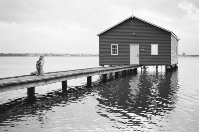 Crawley Boat Shed - Nikon F5, Ilford FP4 Plus