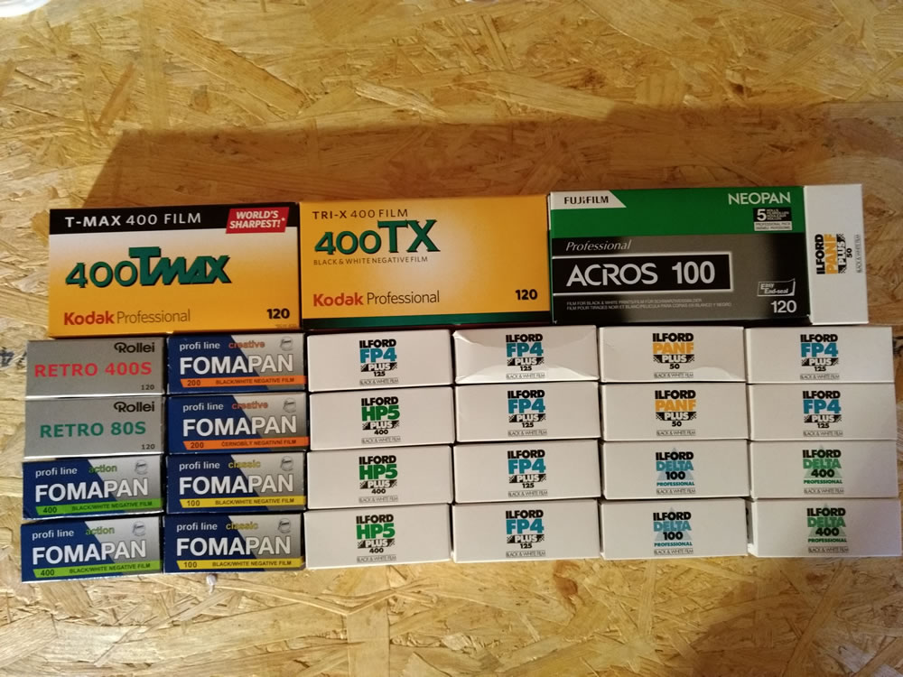 Amassing a small collection of film
