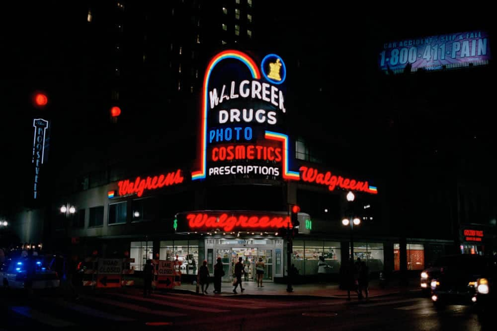 Walgreens - from In the form of Neon. Kodak Portra 400, Olympus OM40, USA
