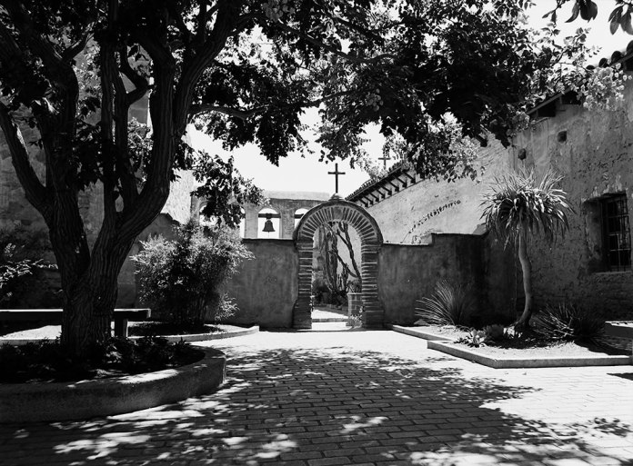 Pentax 645 -San Juan Capistrano Courtyard - Pentax-A 645 45mm - ILFORD FP4+