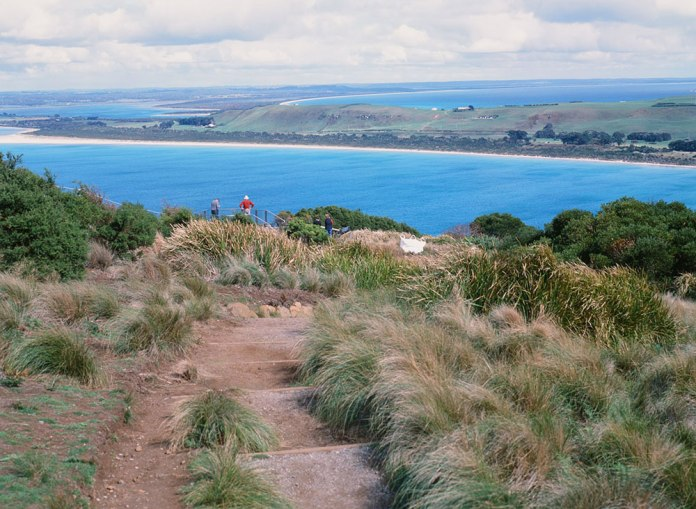 Tasmania Travelogue - At the top of The Nut in Stanley.