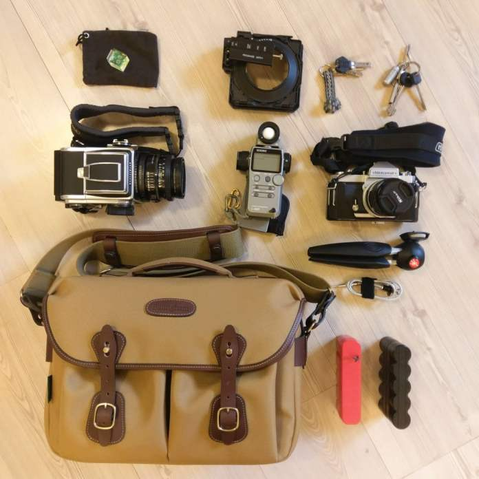Billingham Hadley One - Mixed formats, Hasselblad and Nikon FT3