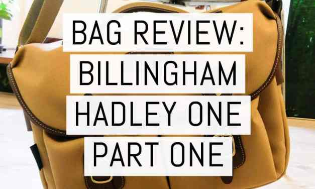 Bag review: The new Billingham Hadley One part one – first impressions