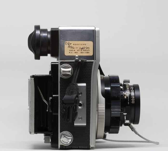 Mamiya Super 23 bellows with focusing screen holder (bellows closed)