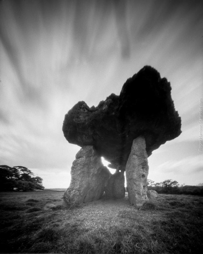 St Lythan's Burial Chamber - Reality So Subtle 5×4 Pinhole on Fomapan 100