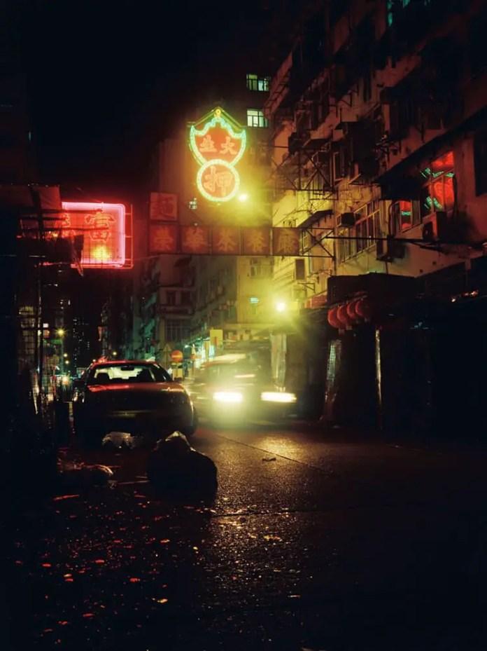 Sham Shui Po, night - Kodak Portra 800 - Fuji GS645W