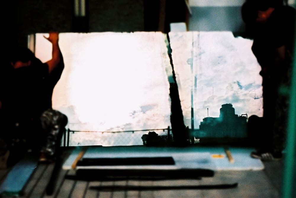 Alt skyline - Shot on Kodak PROFESSIONAL ELITE Chrome 100 (EB-3) at EI 100. Color reversal (slide) film in 35mm format. Cross-processed.
