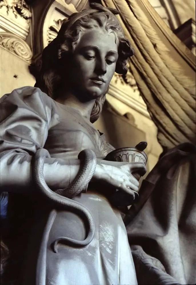 "Genoa, Italy 2001 - From the photo-work ""Volti di pietra"" - Horseman VH 6x9. Fujifilm Provia III 120, 100asa"