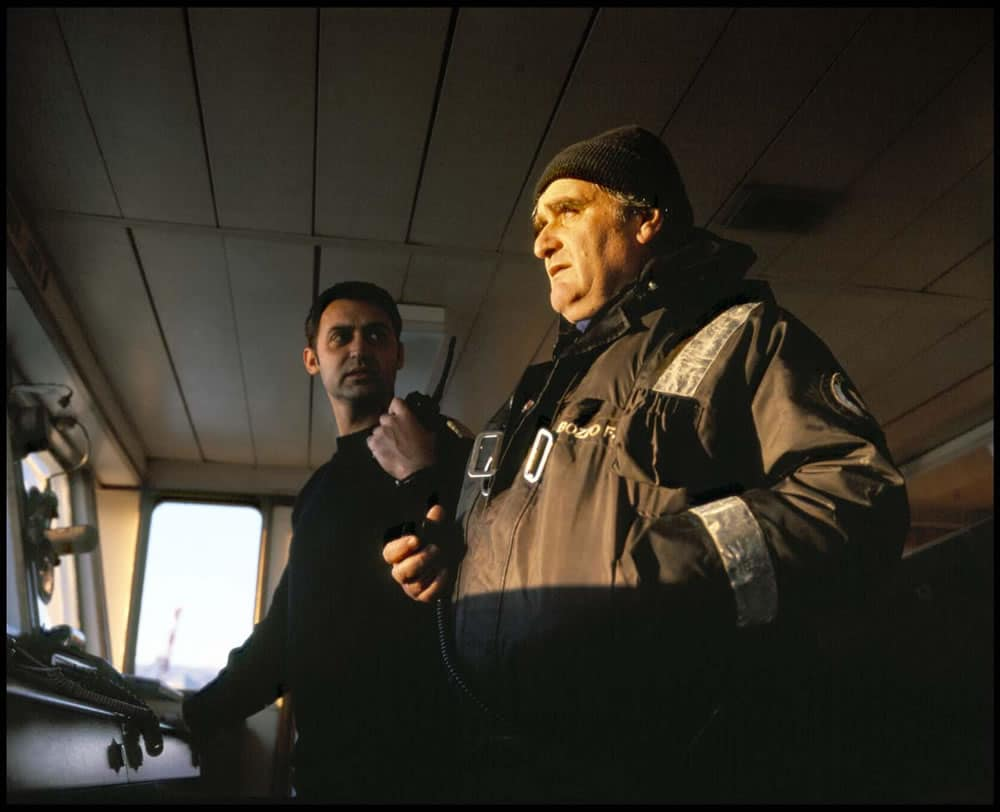 "Genoa, Italy 2003 - From the photo-work ""Pilote à bord"" for Dunkerque Musée Portuaire. Mamiya 7II. Fujifilm Provia 120, 400asa"