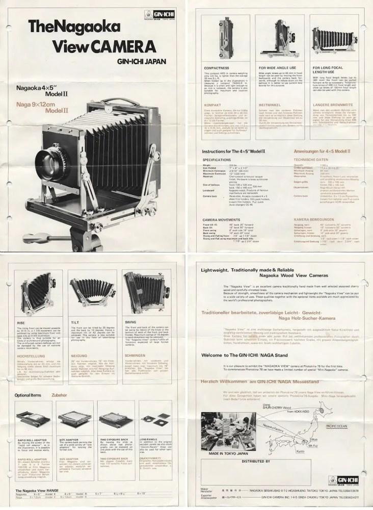 Nagaoka 4x5 - manual