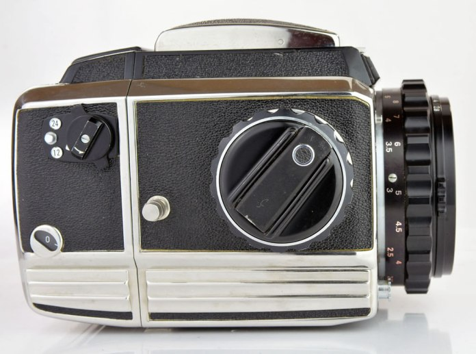 Zenza Bronica S2A - Left side and film advance crank