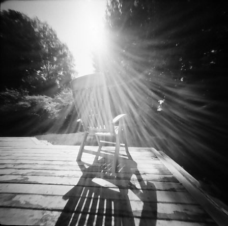 Monika - @DrMarsRover #SummerFilmParty #Home,Housebound:To sit in the sun,on a day like this.@ILFORDPhoto PanF+ | Reality So Subtle pinhole