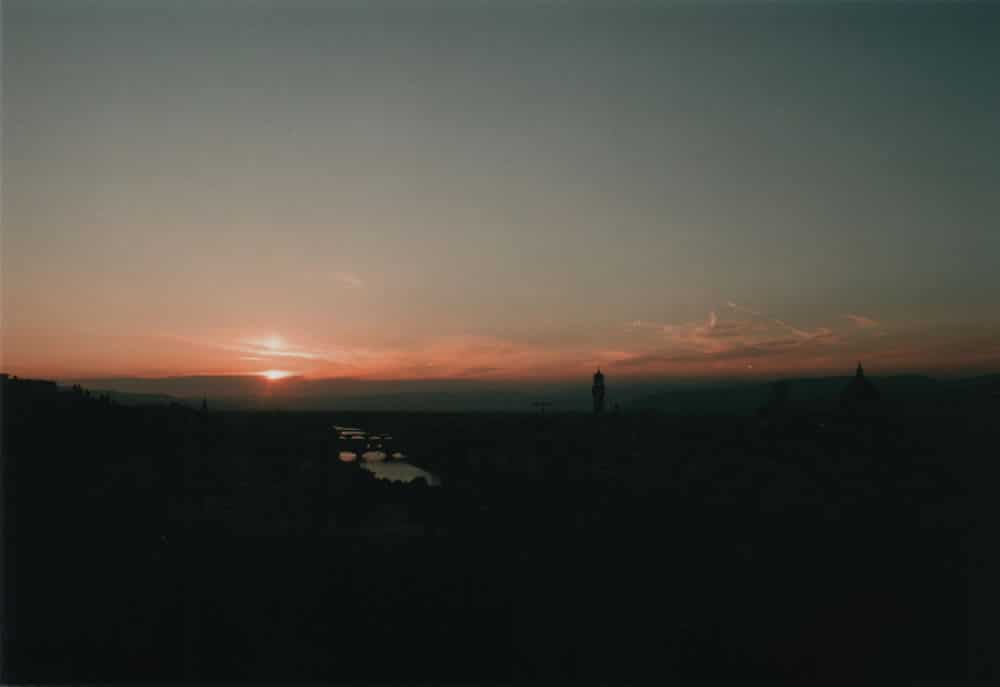Florence Sunset - OLYMPUS OM-1 - Fuji C200