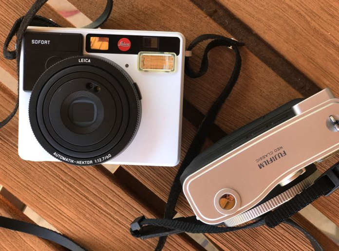 Leica Sofort and Fuji Instax Mini 90 together