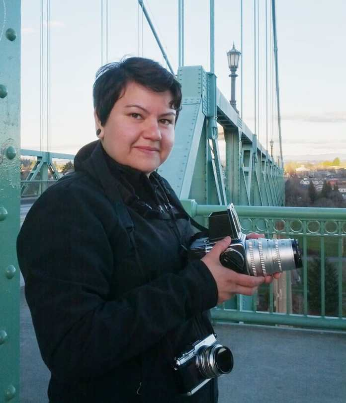 Self - Taken by my partner Carol Ayres on the St John's Bridge in Portland Oregon