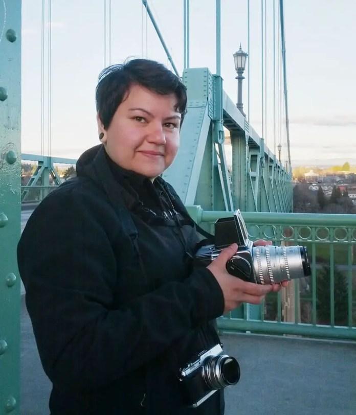 Self - Taken by my partner Carol Ayres on the St John's Bridge in Portland Oregon