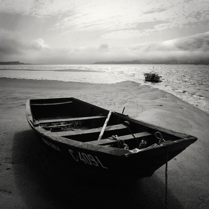 """""""Untitled"""", Rio Minho, Caminha, Portugal. Mamiya 6, 50mm f/4.0G, loaded with Rollei Retro 400S exposed at EI 200 with +2-stops compensation for R25A filter. Developed in Kodak Xtol 1:1. Scanned with an Epson V500."""
