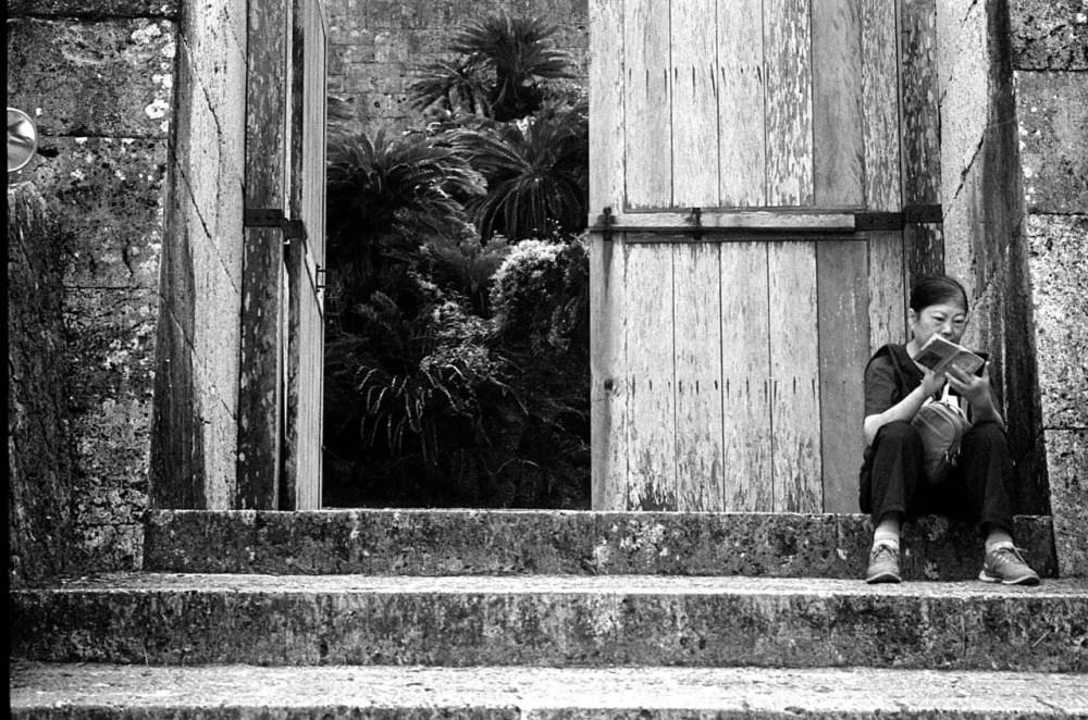 Searching for an open door - Shot on Silberra ULTIMA 200 at EI 200 - 35mm black and white format film - Shot on Silberra ULTIMA 200 at EI 200. 35mm black and white format film. Orange #25 filter. Leica M6 / Leica Tele-Elmarit 90mm f/2.8.