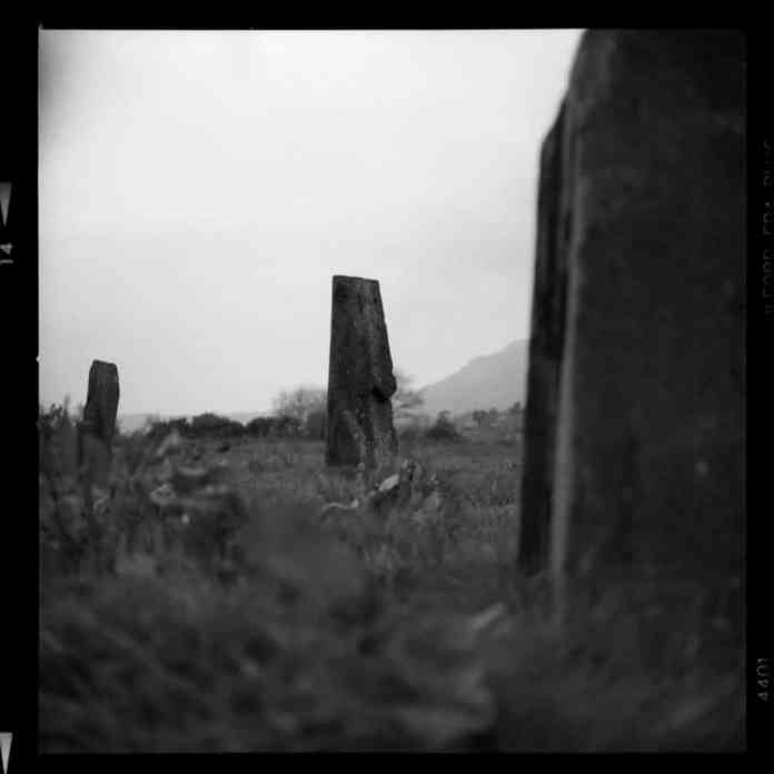 Standing Stone Circle, Snowdonia. 09/04/2017 Hasselblad 500C FP4 120 f2.8 1/50