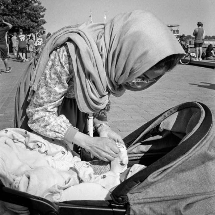 Mother & Child Rolleiflex Kodak Tri-X