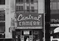 Central Camera - Pedestrians pass by Central Camera, a photo store in business since 1899, Chicago, IL, September 2017 (Busch Pressman 4x5, 150mm, Arista EDU 100) - Kenneth Wajda Photographer
